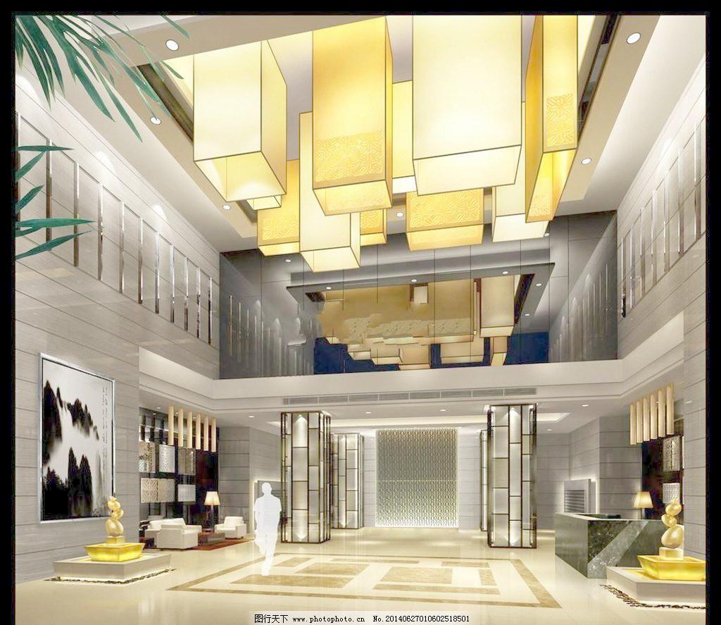 大厅 地面拼花 吊灯 环境设计 设计 室内设计 售楼处 售楼处大厅效果