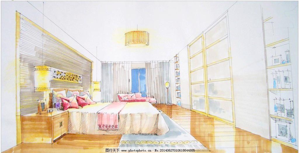 吊灯 环境设计 室内设计 手绘室内设计 手绘室内 麦克笔效果图 马克笔