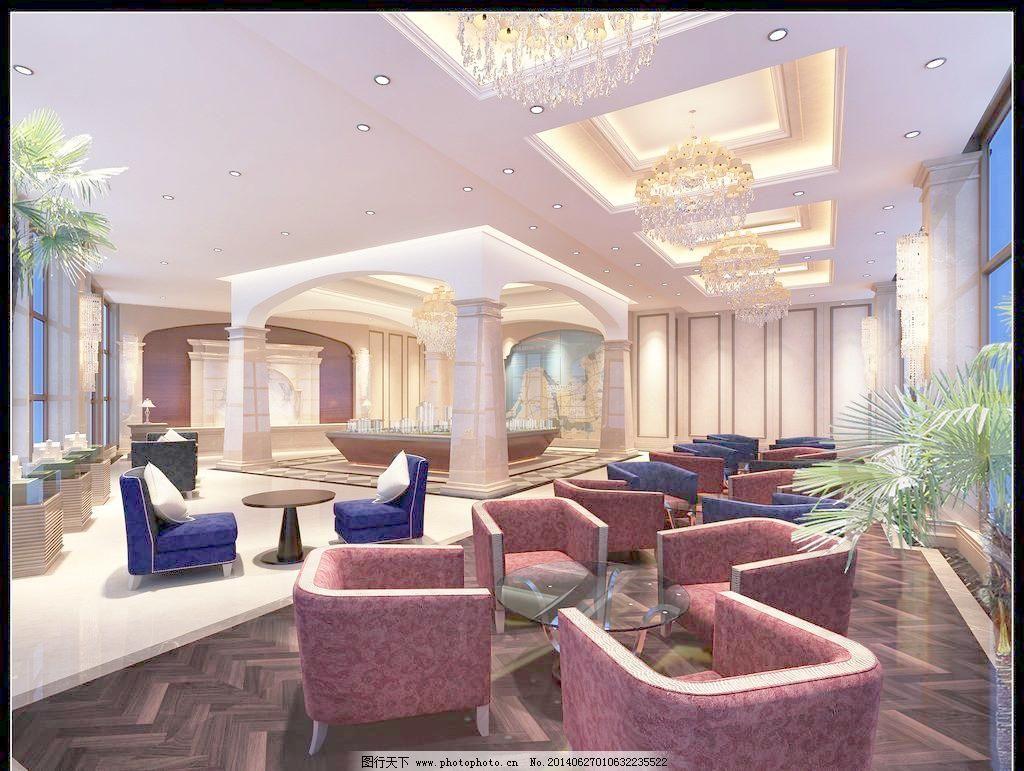 吊灯 楼房模型 沙发 设计 台灯 装饰品 售楼部大厅效果图 沙发 吊灯