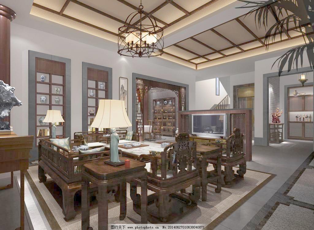 拼花 设计 实木家具 室内设计 中式客厅效果图 中式 实木家具 吊顶