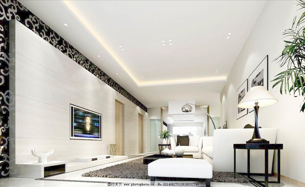 100dpi jpg 玻璃墙 地板 电视 电视柜 吊灯 钢琴 挂画 环境设计 客厅