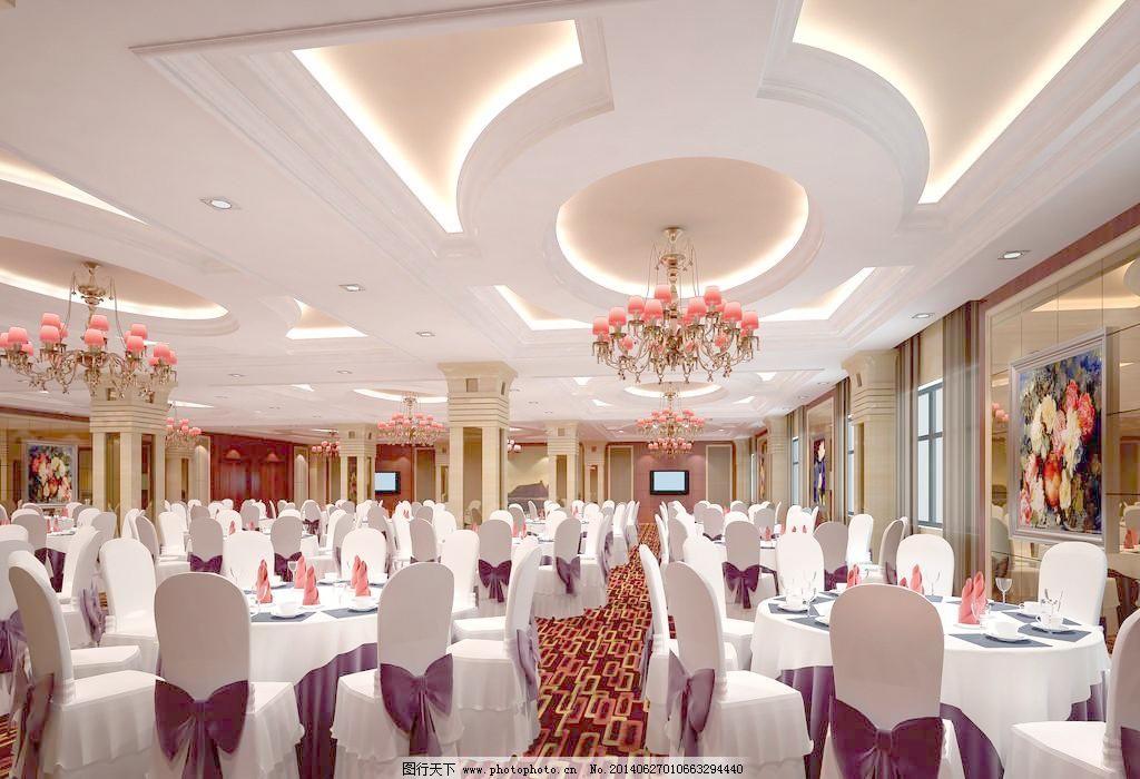 酒店装修酒店宴会厅效果图制作 豪华酒店 酒店大厅设计 酒店设计