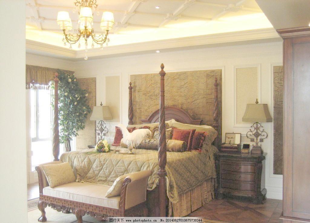 沙发 摄影 室内 室内样板间 室内 欧式 样板间 主卧 床品 方案 沙发图片