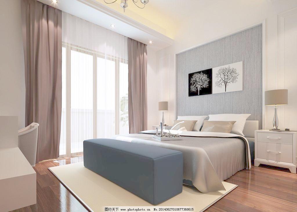 家装 软包 设计 室内      卧室效果图 室内设计 室内 家装 床 电视柜