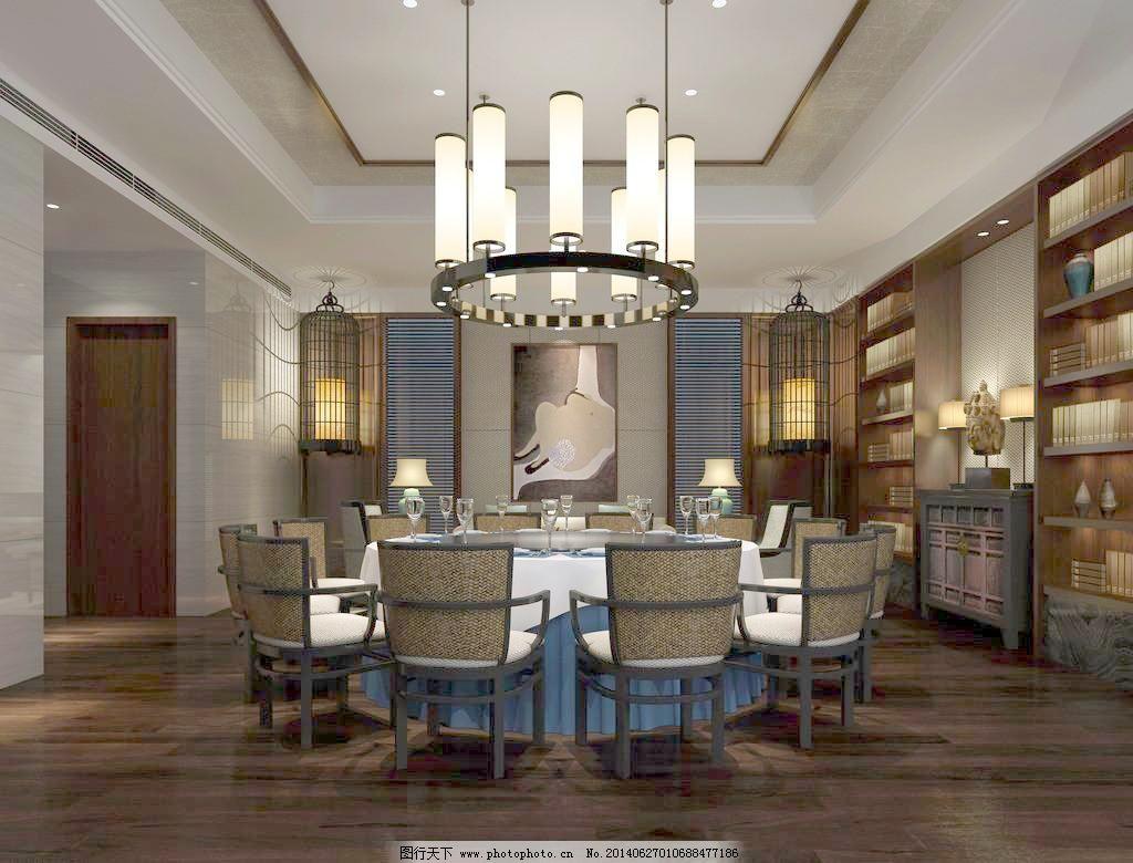 包间 包间免费下载 吊灯 饭店 工装 酒店 中式 桌椅 家居装饰素材图片
