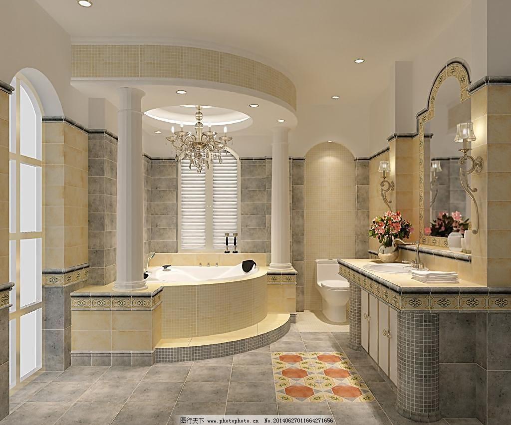 室内设计 室内装修效果图 室内设计 卫浴效果图 卫生间效果图 洗手间