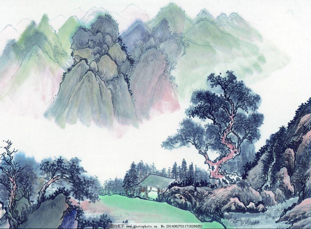 山水画石头步骤