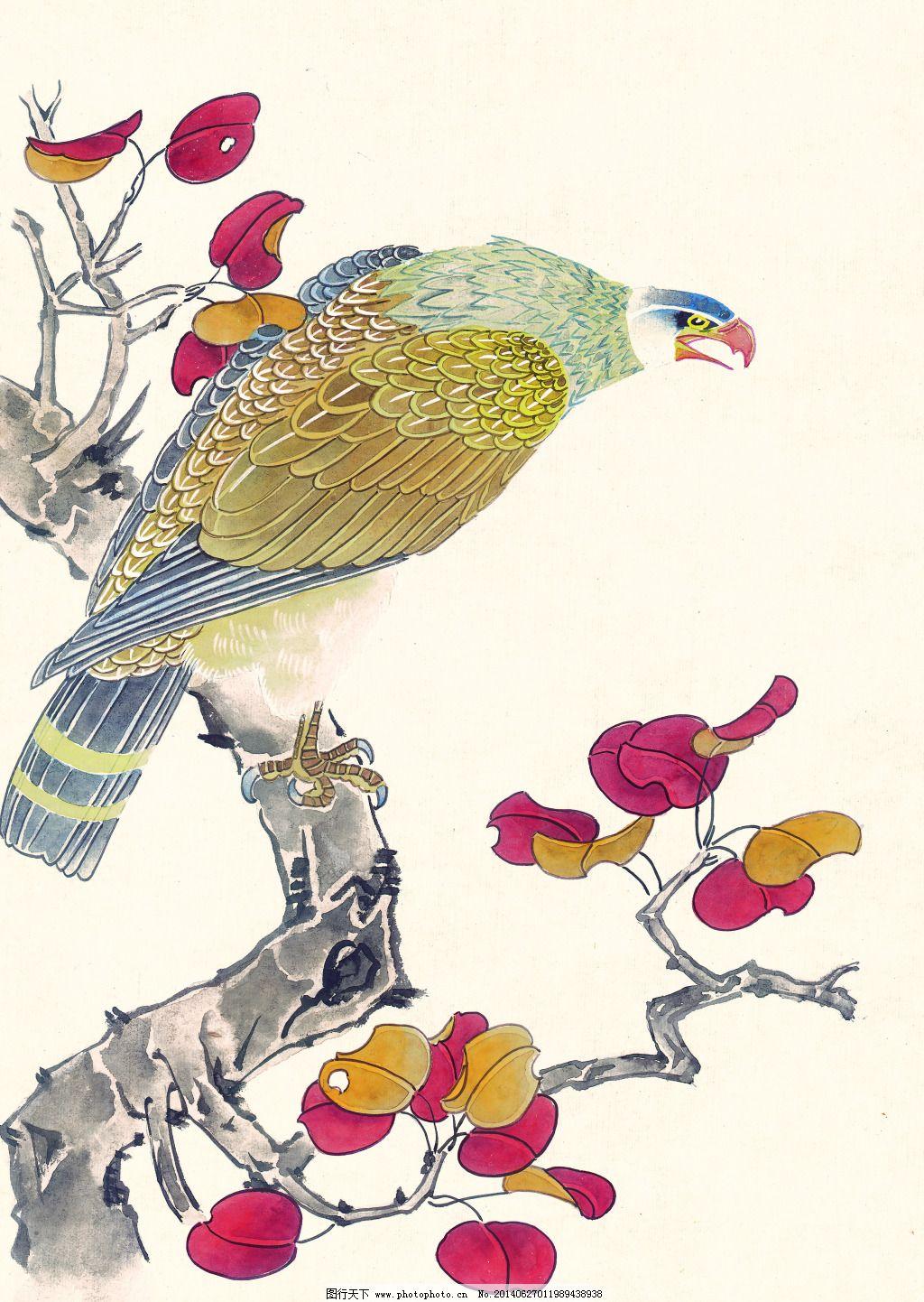 喜鹊免费下载 国画 花鸟 绘画 美术 花鸟 国画 绘画 美术 装饰素材 无
