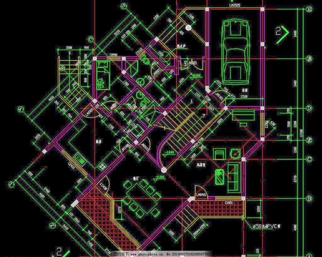 五岭别墅园 公馆 立面图 平面图 剖面图 施工图 室内设计 图纸