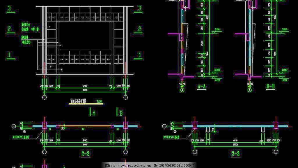 门式刚构夹层有机械分立面_室内图纸_CAD素进厂房设计公司怎么样图片