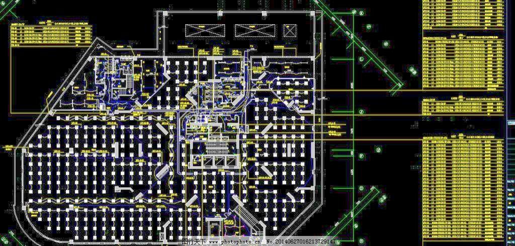 cad 建筑插座电路图