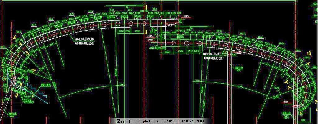 师范大学体育馆小调钢结构_室内棚顶_CAD素把怎么cad图纸工具栏图片
