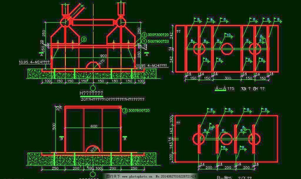 cad 厂房 钢构 钢结构 桁架 环境设计 建筑设计 梁柱 膜结构 平面图