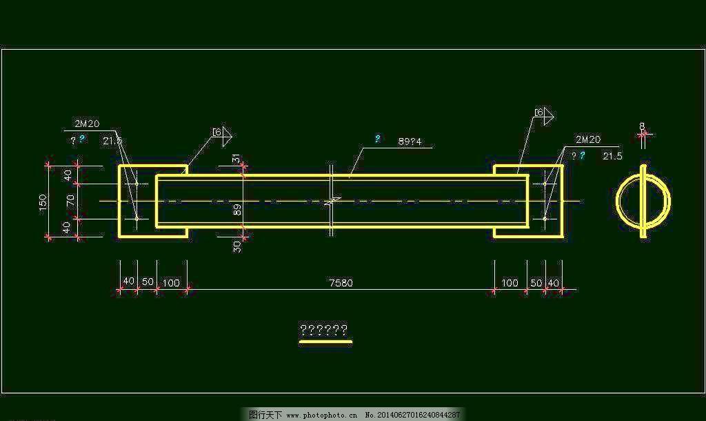 平面图 刚性系杆 cad 图纸 平面图 素材 装修 装饰 施工图 钢结构
