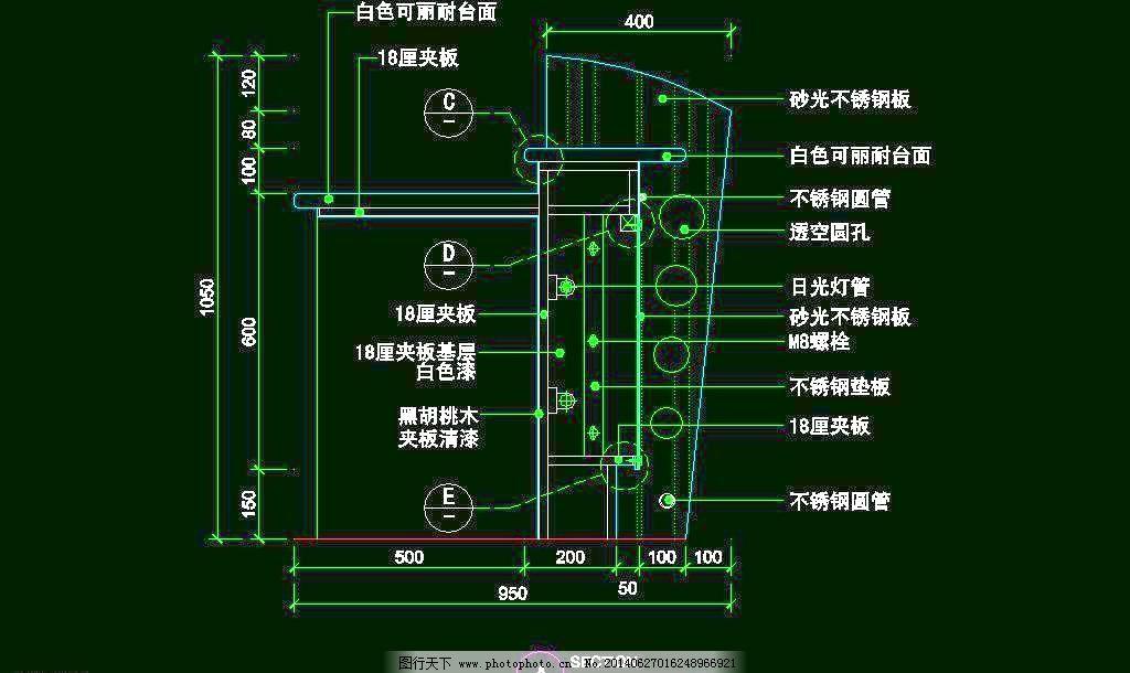玻璃 大理石 大堂 服务台 环境设计 酒店 平面图 施工图 cad之吧台