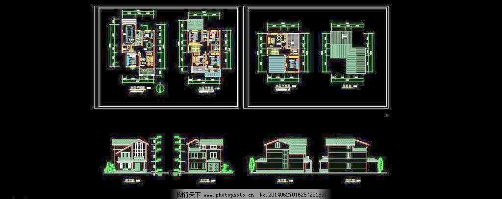 独院式素材_室内图库_CAD城堡_图行天下图纸别墅图纸2买必什么地下图片