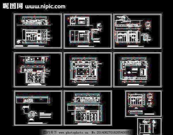 服装专卖店设计装修图 办公室 大厦 立面图 模型 平面布置图 平面图