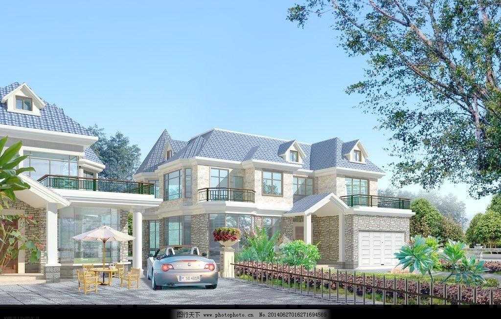 二层别墅施工图带效果