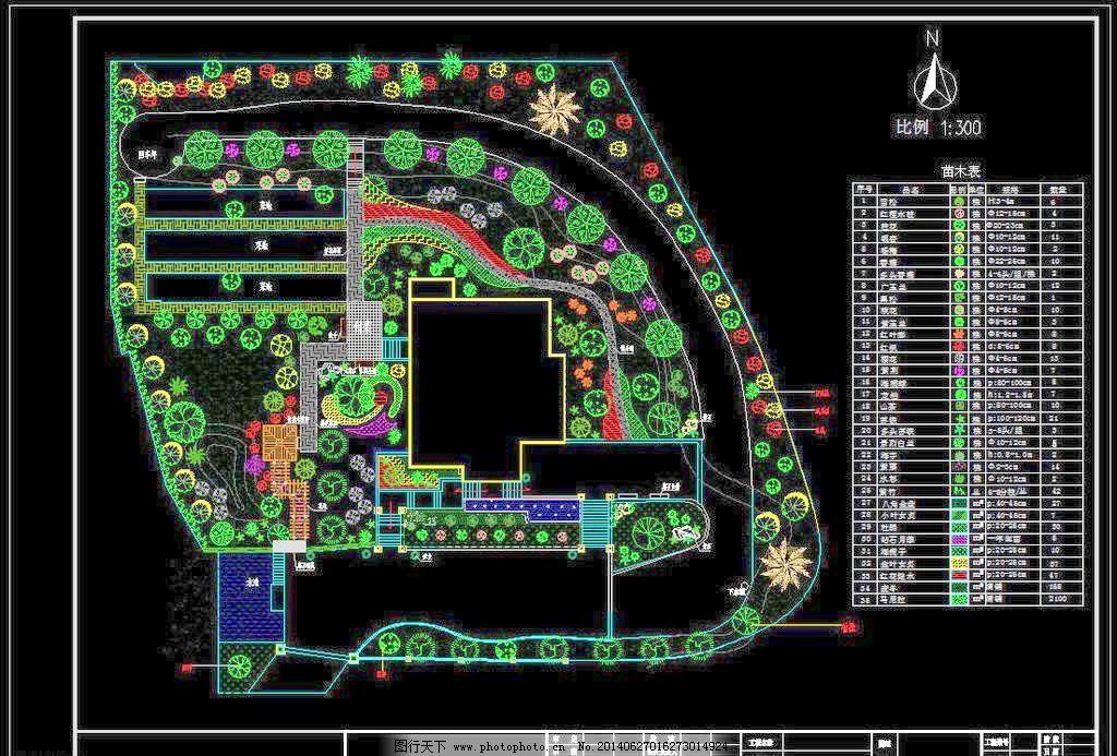 别墅景观绿化设计平面图