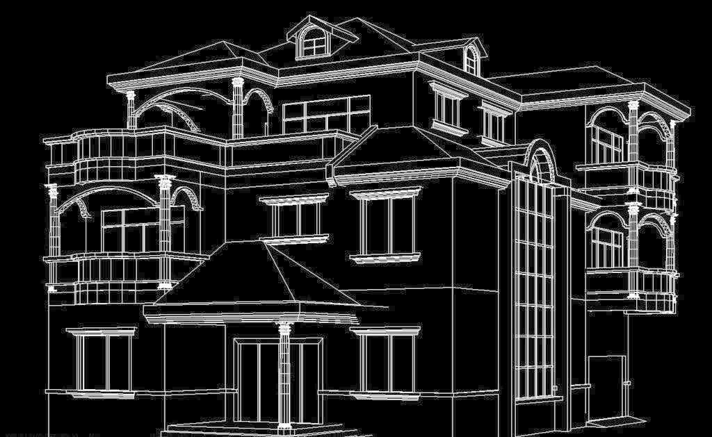 别墅透视图