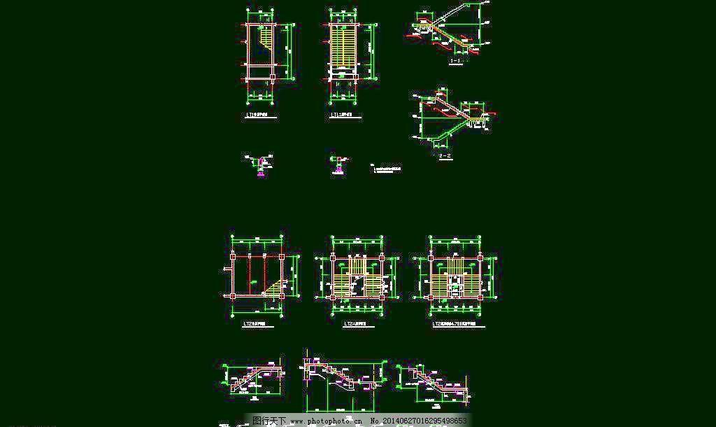 cad 厂房 钢构 钢结构 桁架 环境设计 建筑设计 梁柱 楼梯 膜结构