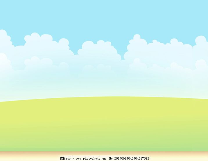 卡通 背景/清新淡雅的卡通幻灯片背景模板