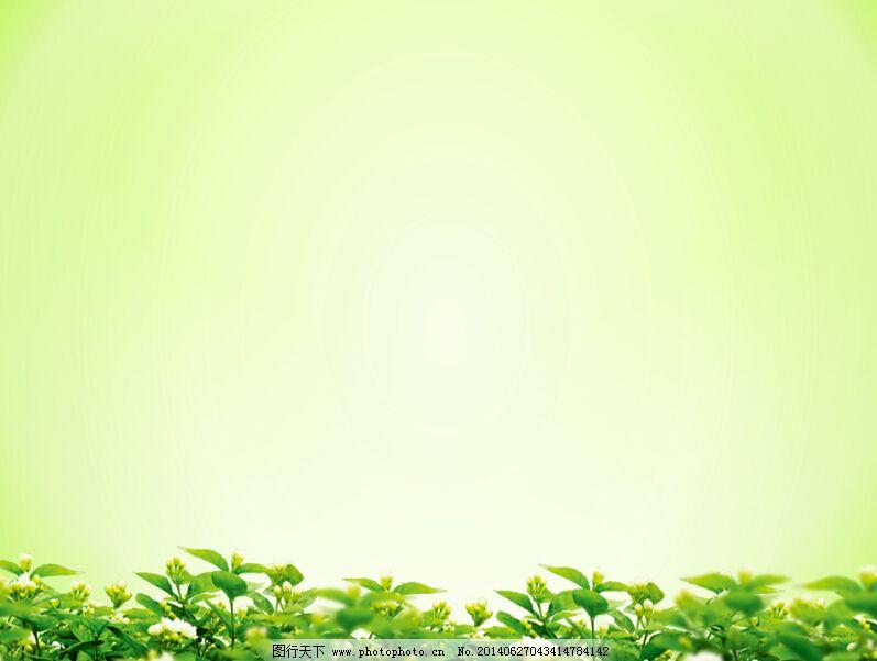 背景/淡雅绿色背景的叶子绿叶幻灯片