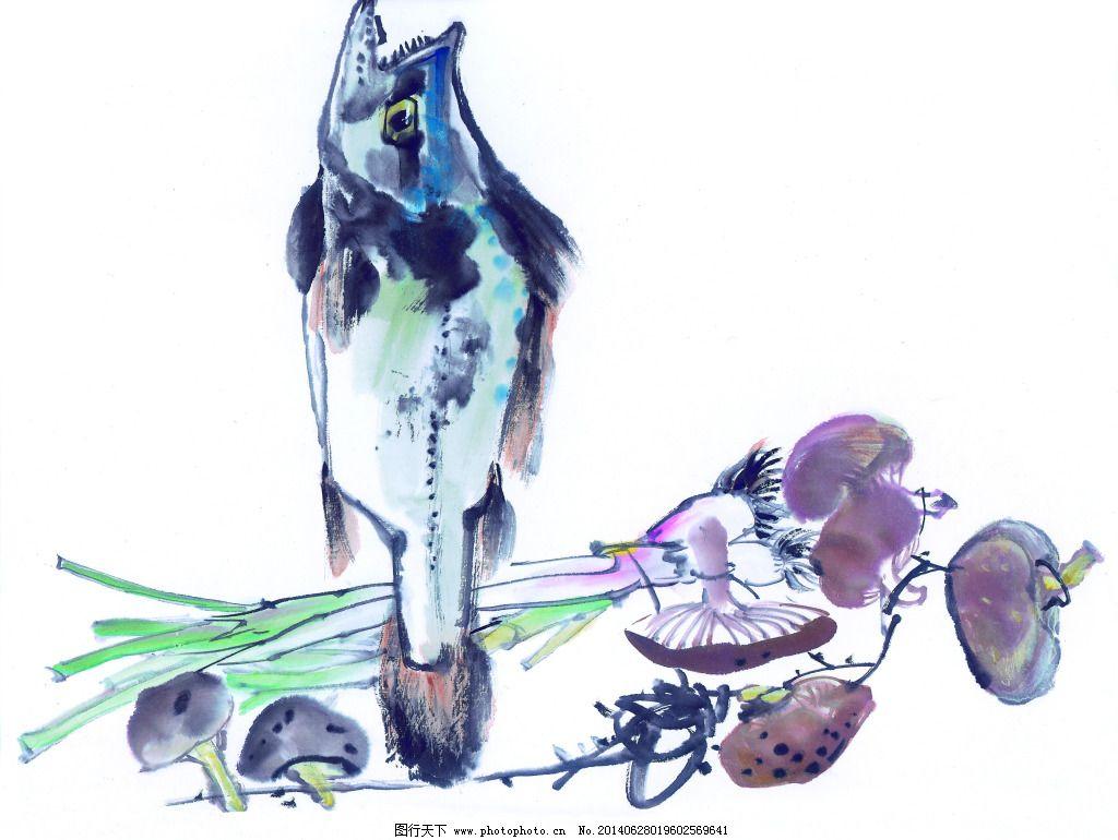 水墨实物 水墨实物免费下载 白描 工笔画 绘画 昆虫 蚂蚱 美术