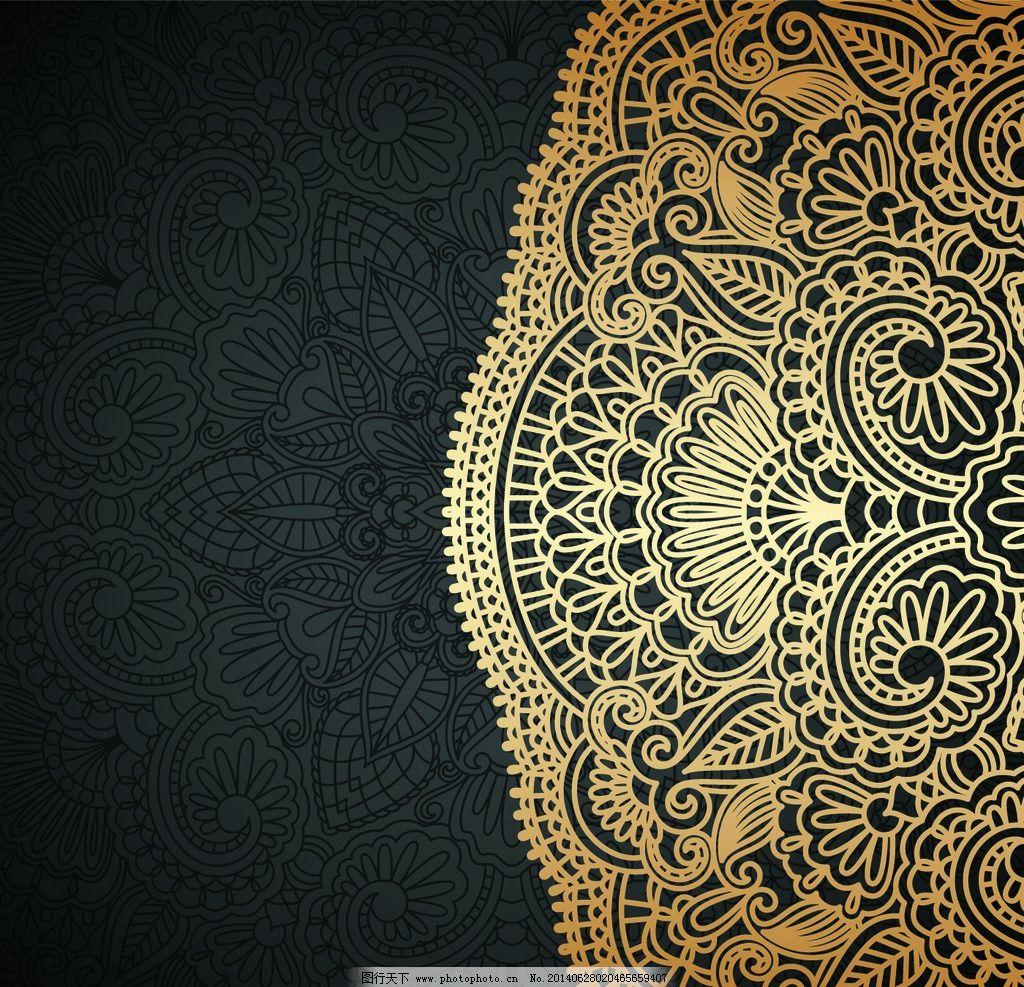花纹 花纹背景 边框 花纹边框 装饰花纹 建筑花纹 手绘花纹 金黄色