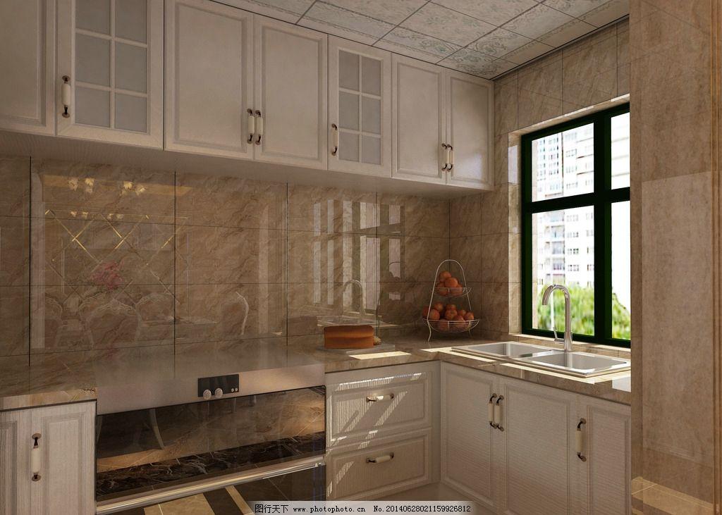 欧式装修厨房 橱柜图片