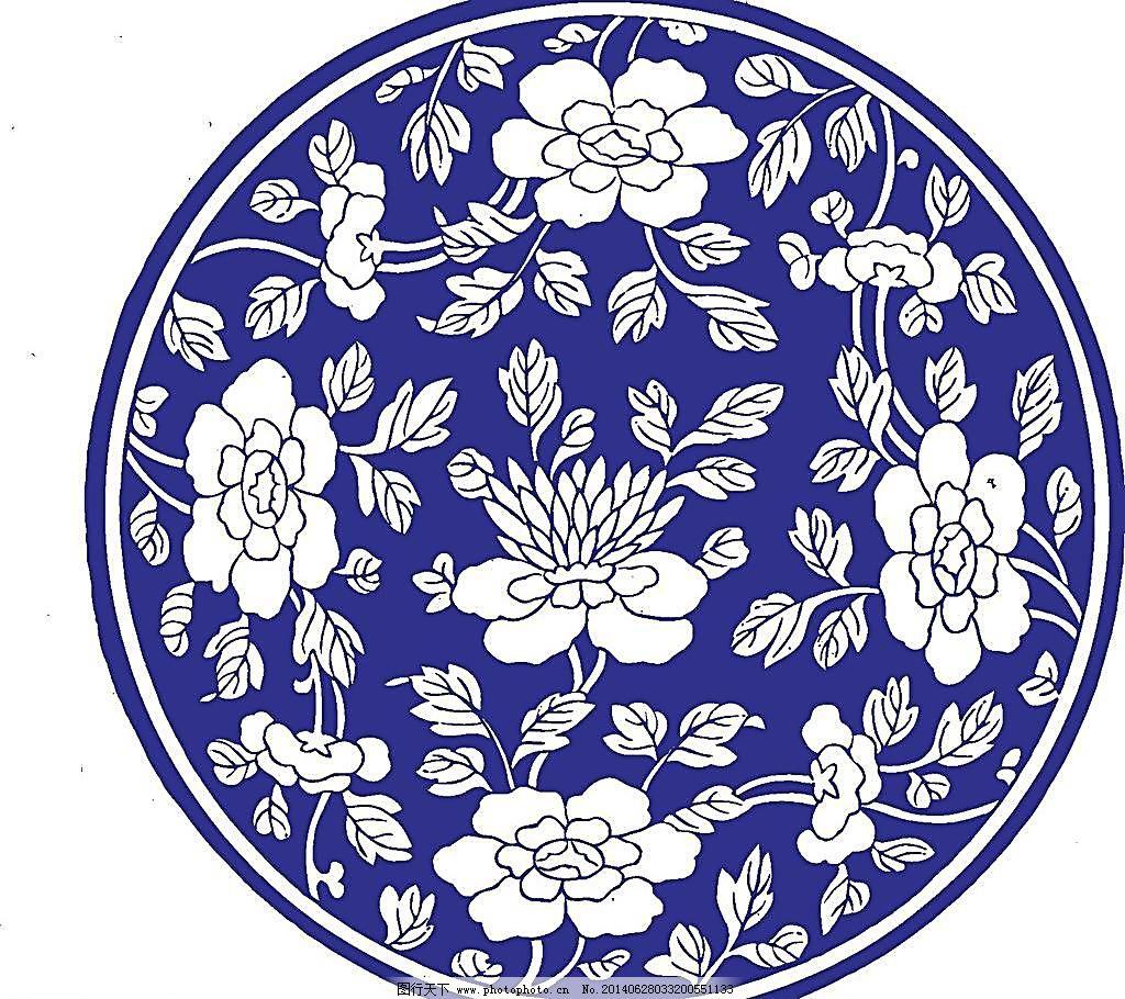 矢量花纹 古典花纹 瓷器 陶瓷花纹 陶瓷纹样 陶瓷 花纹 手绘花纹 花卉