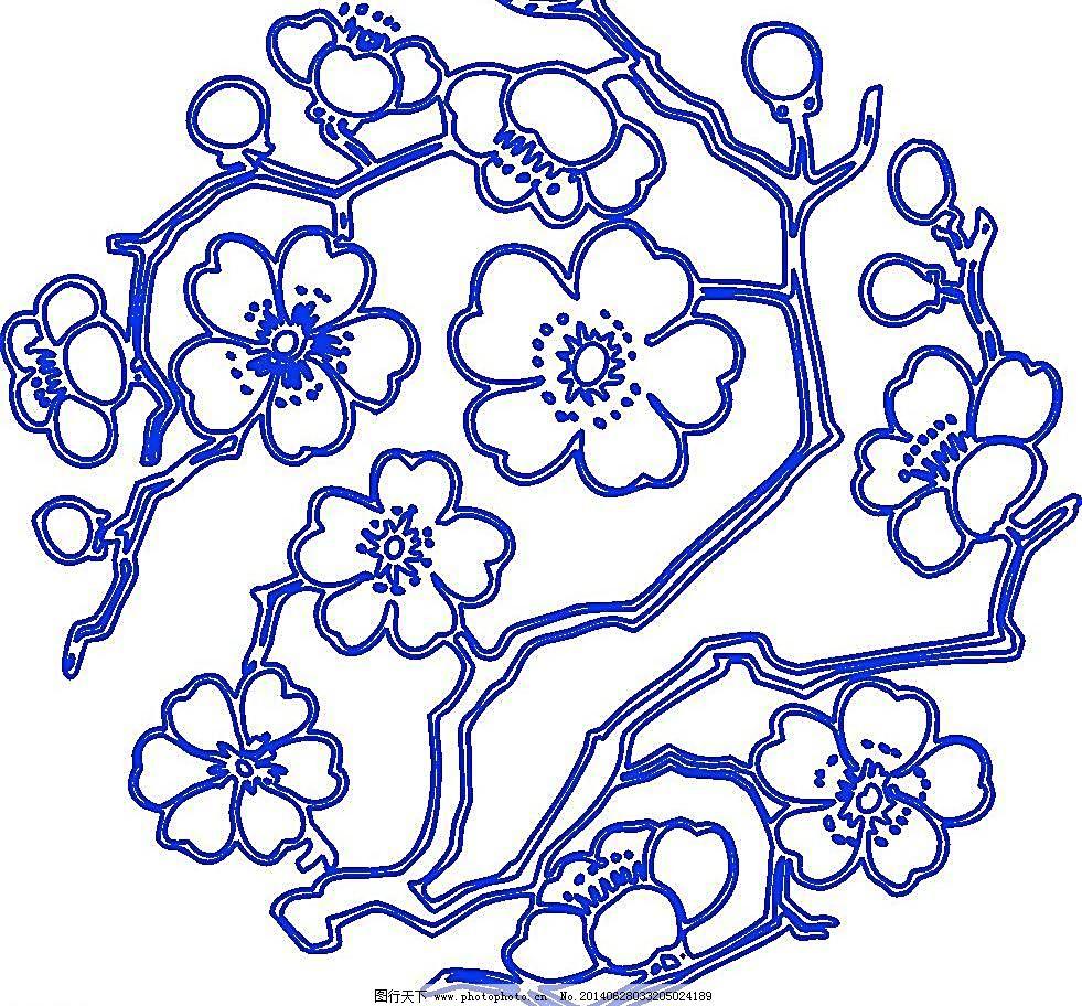 古典花纹 瓷器 陶瓷花纹 陶瓷纹样 陶瓷 手绘花纹 花卉 花矢量 植物