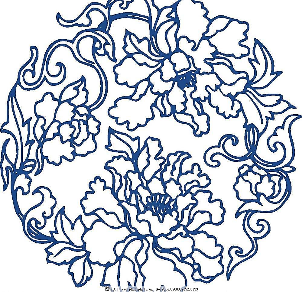 古典花纹图案_广告设计_psd分层_图行天下图库