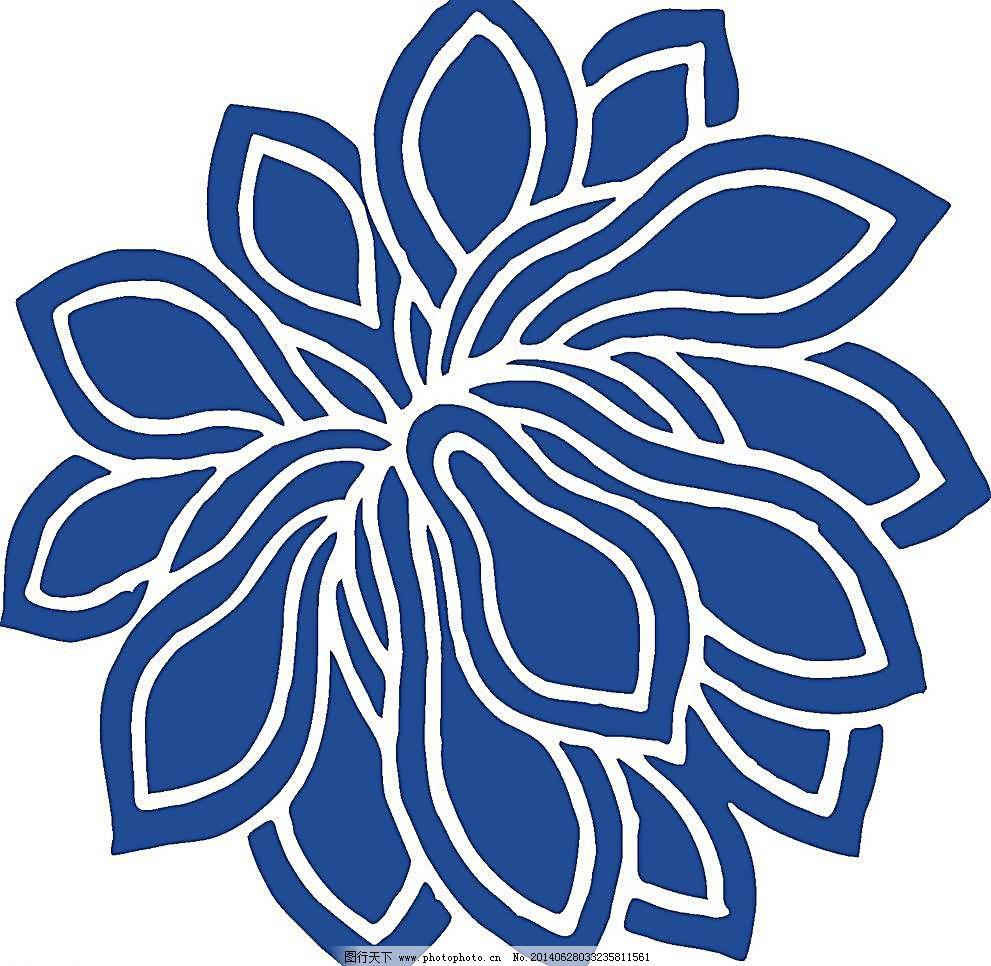 青花瓷图案 瓷器 底纹背景 古典 古典底纹 古典花纹 花卉 花矢量