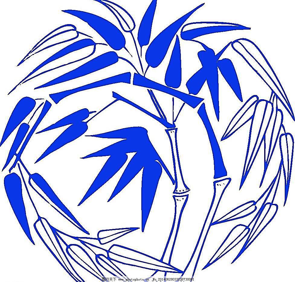 青花瓷图案 竹子