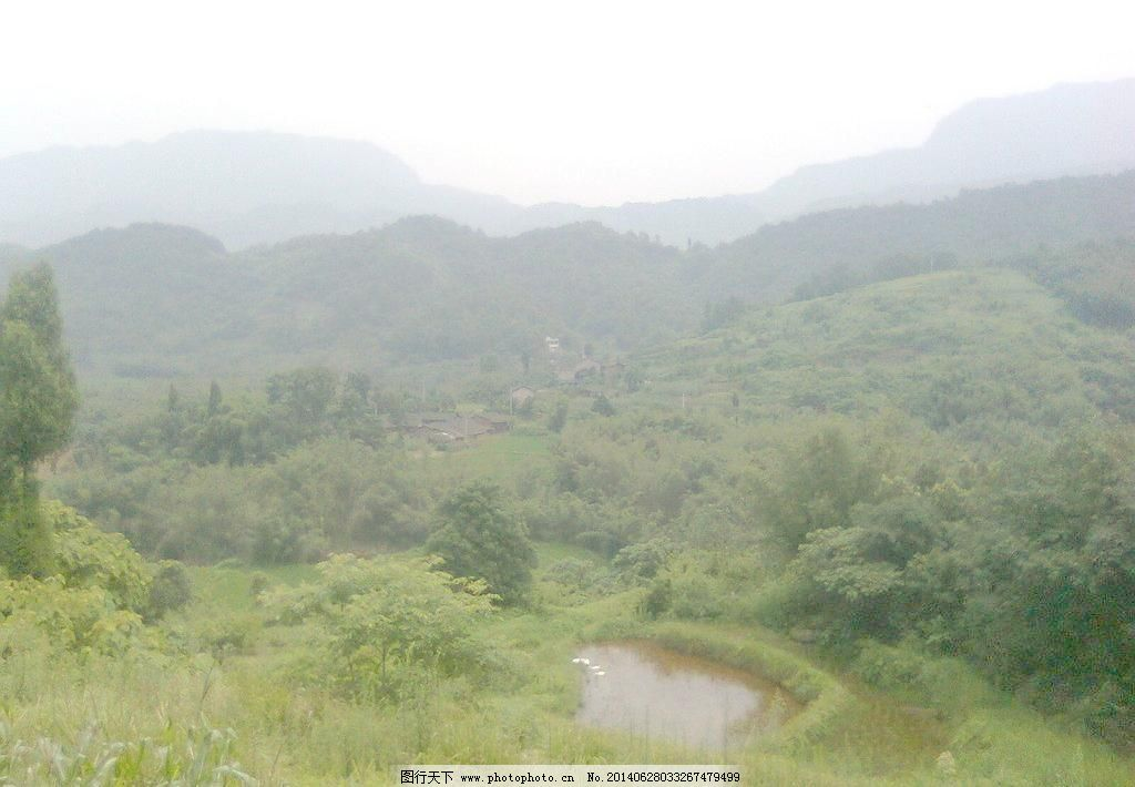 农村风景免费下载 300dpi jpg 风景 绿山 绿树 农村 农村风景 山峦 山
