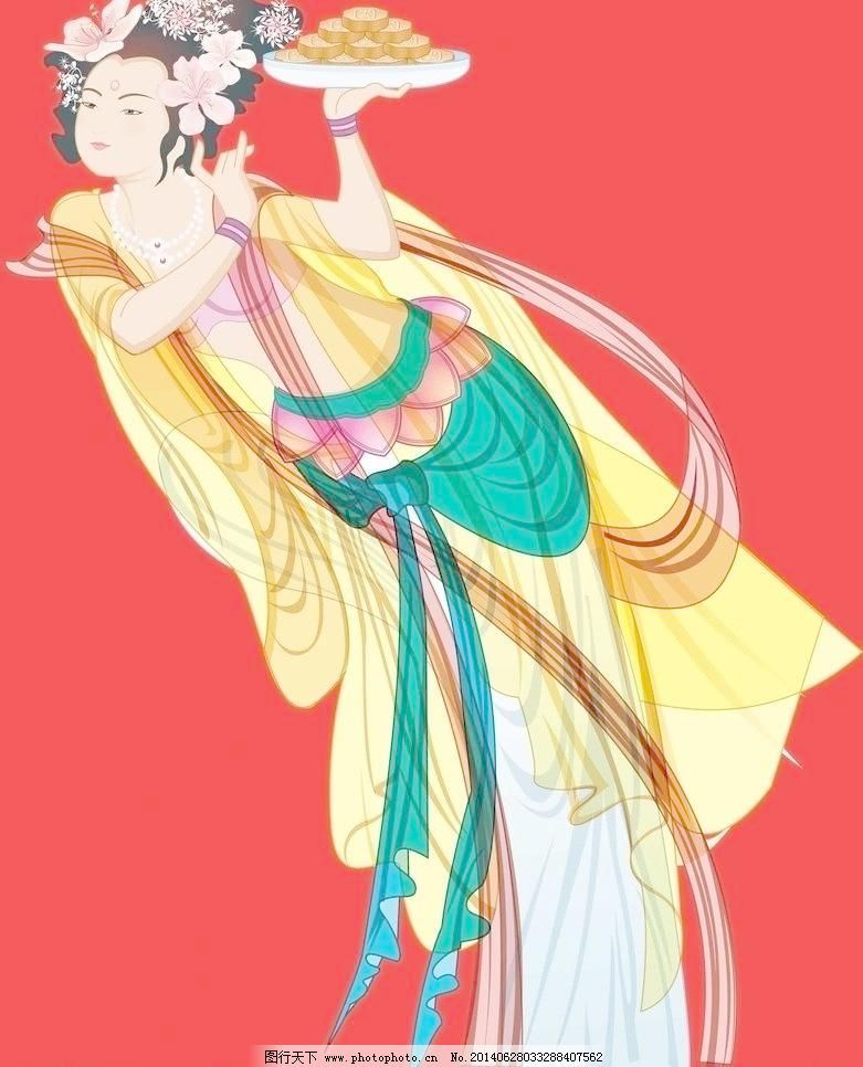 人物图片 嫦娥仙子 玉兔 飞天 仙女 神话美女 节日素材 嫦娥拜月 古代