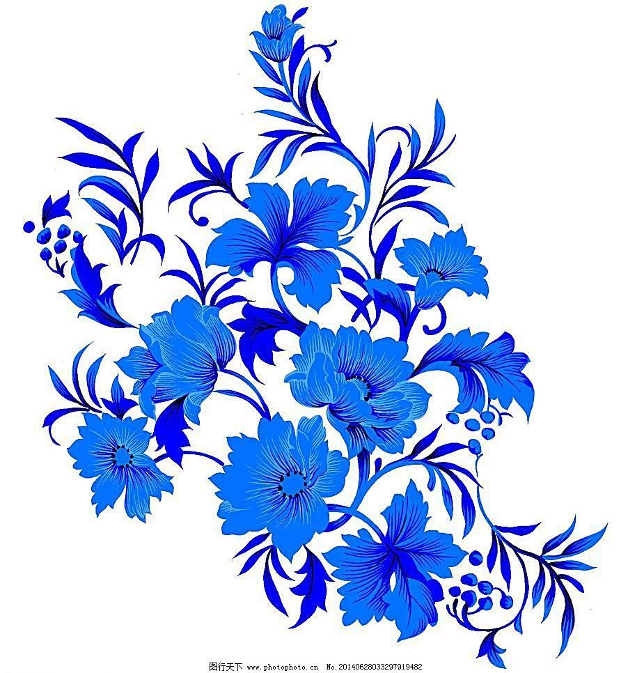 青花 青花瓷素材 底纹花纹 陶瓷花纹 陶瓷兰彩 花纹 花儿 牡丹 兰花