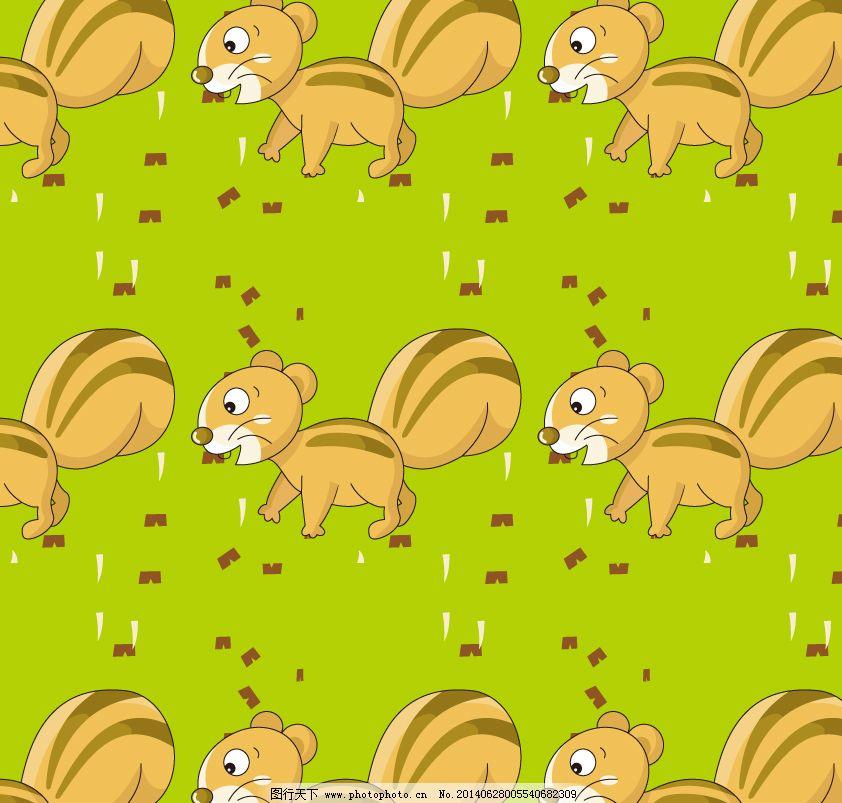 卡通的松鼠 卡通的松鼠免费下载 动画片 矢量图 其他矢量图