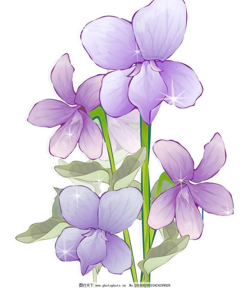 手绘紫色小清新手绘