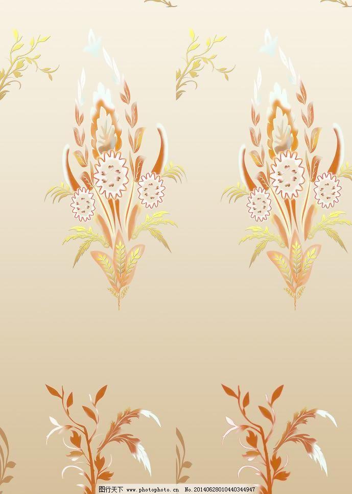 欧式花纹 设计 移门图案 精品烫金移门玻璃图案 欧式花纹 麦穗花 烫金