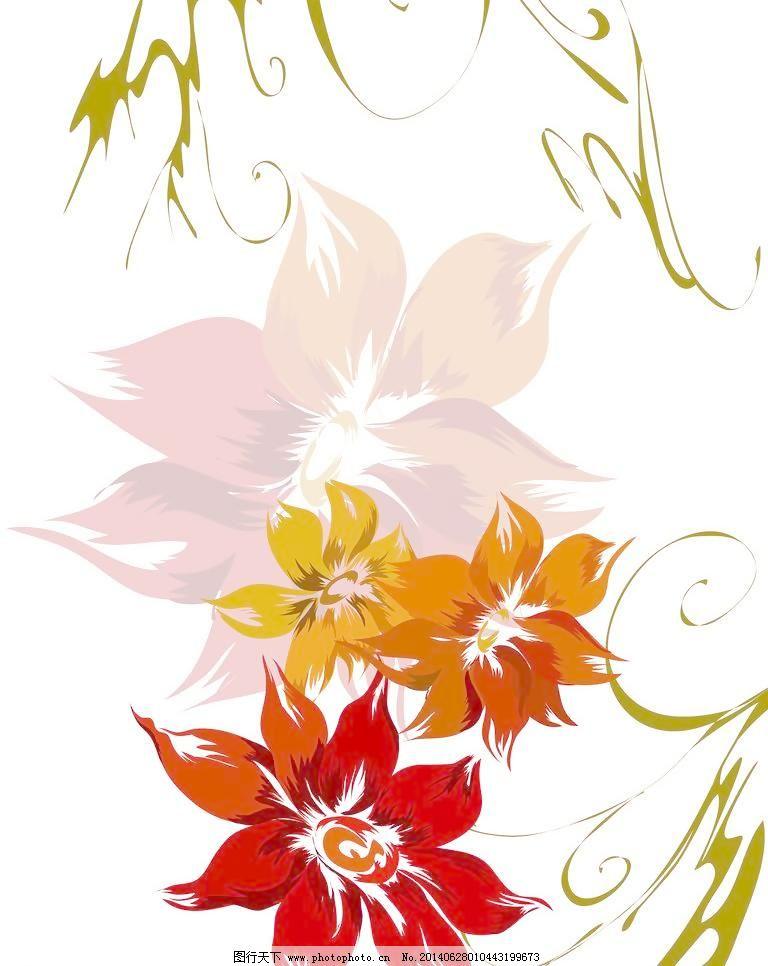 花朵移门免费下载 80dpi jpg 背景底纹 底纹边框 红色 花朵 花朵移门