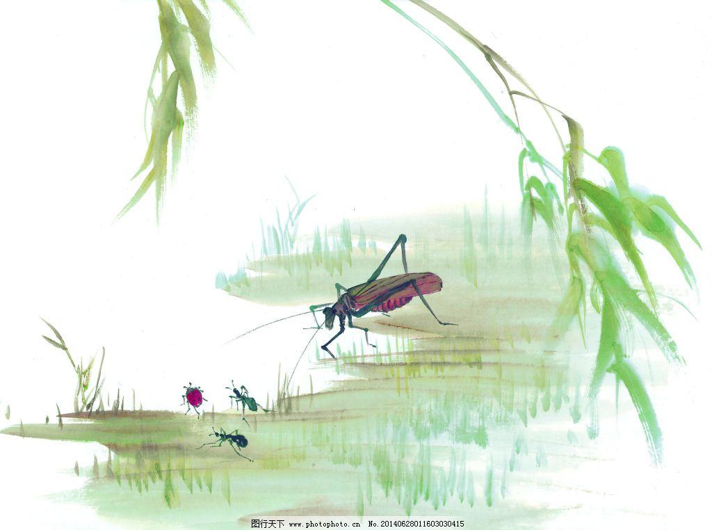 蜻蜓戏水 蜻蜓戏水免费下载 白描 工笔画 绘画 美术 泼墨 文化艺术