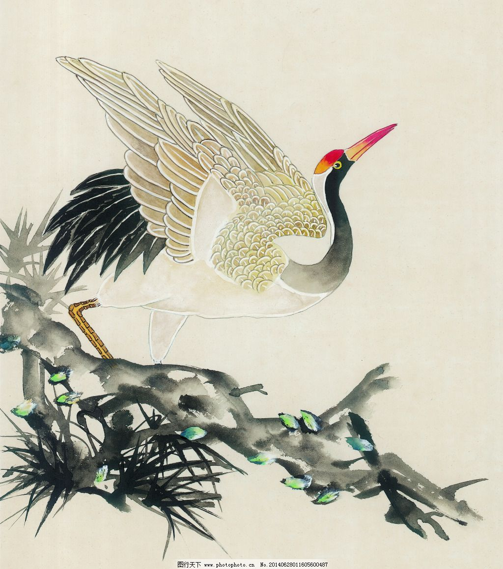 丹顶鹤免费下载 白描 丹顶鹤 工笔画 绘画 美术 泼墨 人物 水墨 松树