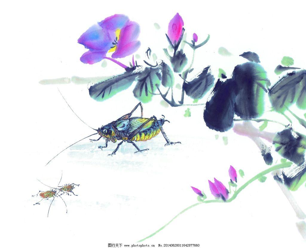 昆虫蚂蚱免费下载 白描 工笔画 绘画 昆虫 蚂蚱 美术 泼墨 人物 水墨