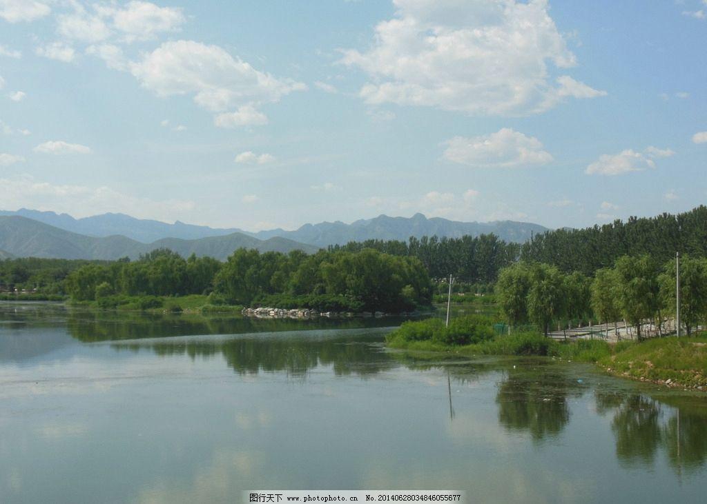 山水风景 风景图片 山水 树木 蓝天 远山 湖水 自然风景 风景图 自然