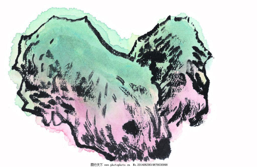 工笔 国画 国画石头 花卉 绘画 泼墨 山水 手绘 文化 国画石头 中国画