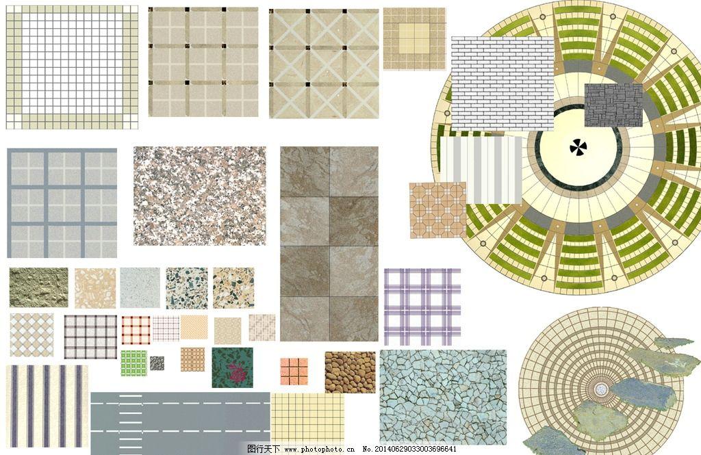景观设计平面图ps_景观设计铺装平面图ps图片_其他_PSD分层_图行天下图库