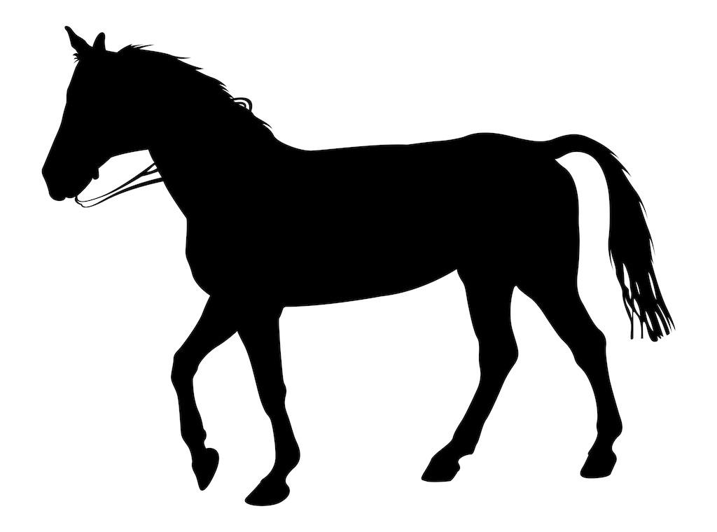 马的动物剪影免费下载