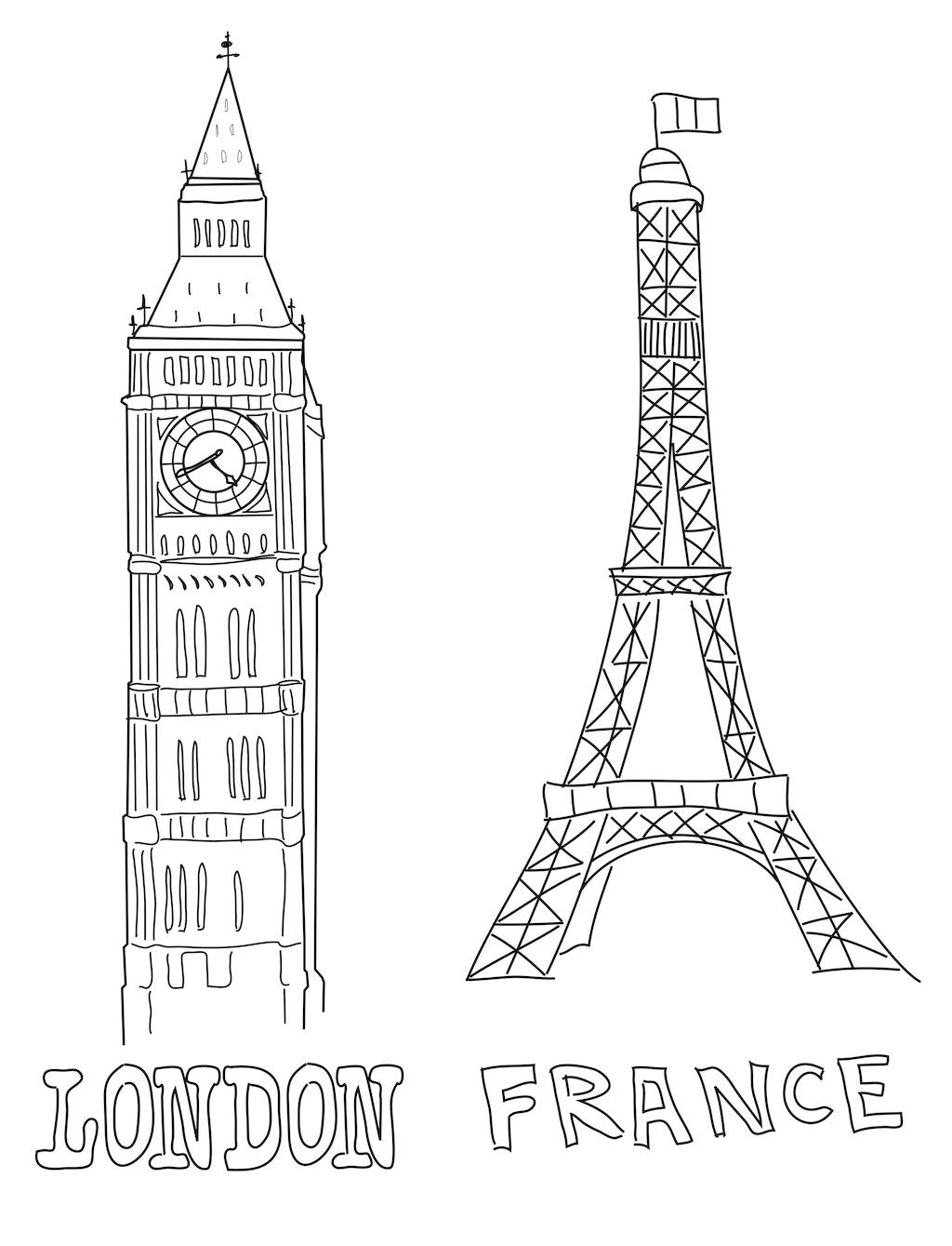 大本钟和埃菲尔铁塔